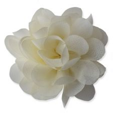 6cm Small Rose CREAM Fabric Flower Applique